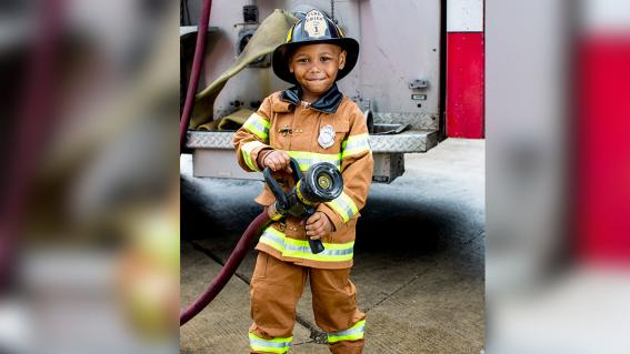Tyren is ready to fight fires
