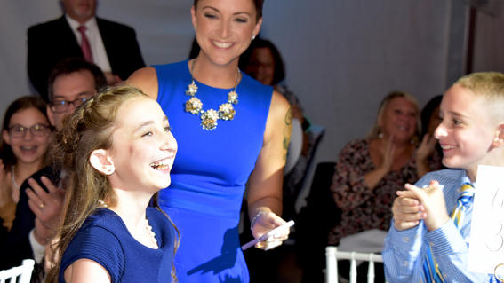 Wish kid Bridget, 10, reacts to the surprise that her wish to go to London is coming true