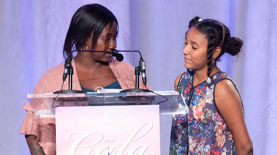 Shirley, who was granted a wish in 2002, reveals to her daughter, 11-year-old Zakhyrah, that her wish to go to Walt Disney World Resort has been granted