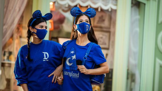 Women wearing Wishes Come True Blue Collection at Walt Disney World