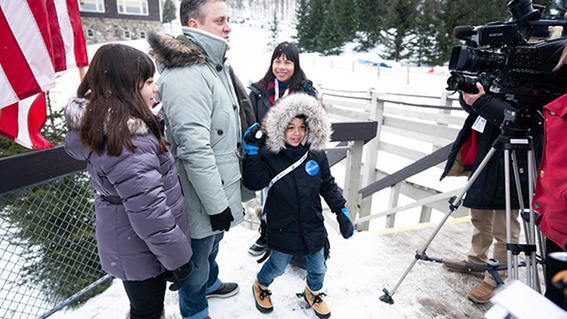 Wish kid Tiago and his family
