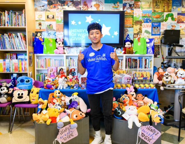 Henry wished to give toys to children at a local children's hospital