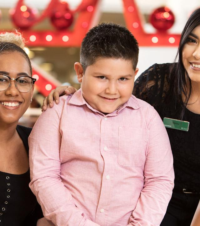 Wish Kid Caesar with Macy's Employees
