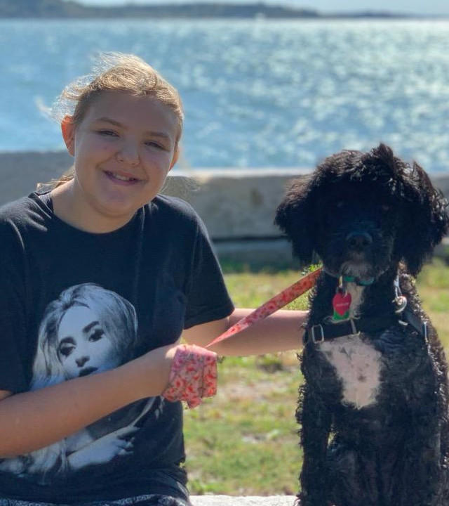 Diane wished to have a Portuguese water dog