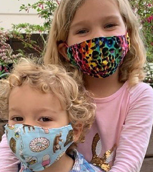kids wearing masks for wishes