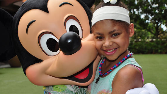 wish kid Autumn and Mickey Mouse