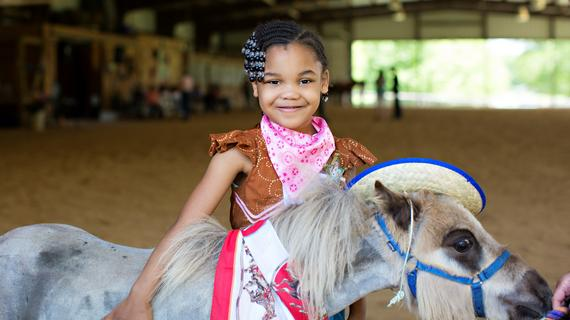 Kionna, I wish to be a cowgirl, at farm