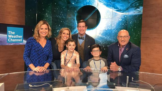 Wish kid Kaylee and Jim Cantore