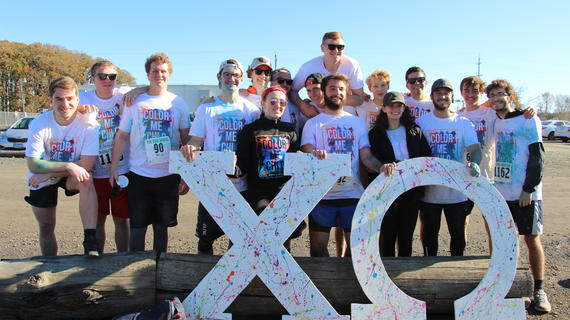 Oregon State University's Chi Omega hosts annual 5K Color Fun Run in support of local wishes.