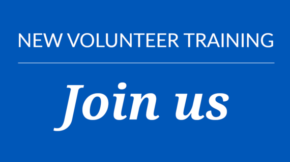 New Volunteer Training: Join Us