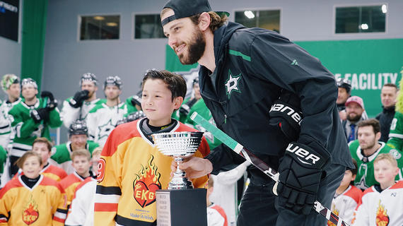 anderson, I wish to play hockey against the Dallas Stars, in the stadium