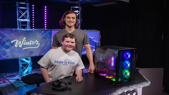 Ethan's love of gaming inspired his wish to have a video game