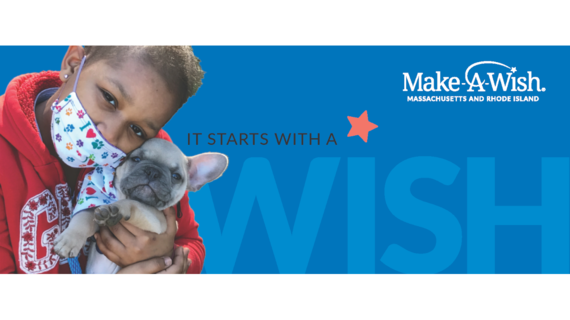 Wish child Aisha with her puppy; It Starts With A Wish