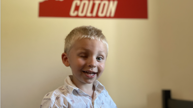 Wish kid Colton