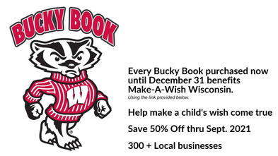Purchase your Bucky Book today and help make wishes come true