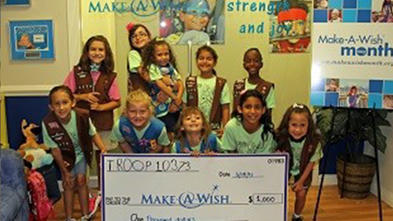 Girl Scouts & Brownies - Kids for Wish Kids Fundraiser