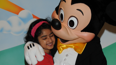 mahek with mickey