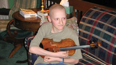 Jonathan's wish to have a violin comes true.