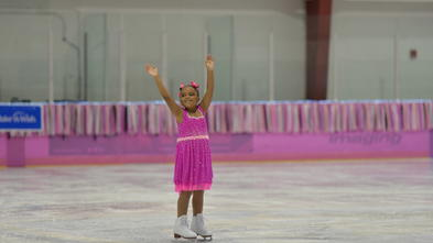 Wish kid Nicole takes the ice