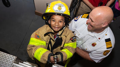 Samuel and firefighter