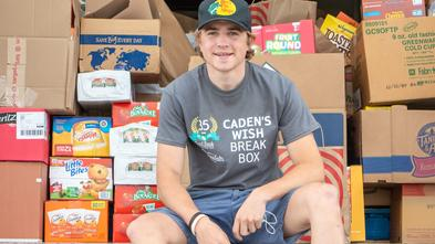 Caden ready to deliver food for underserved kids