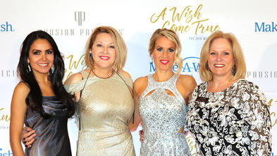 Helen Johnson, far right, with attendees at Wish Ball, the annual Make-A-Wish Arizona gala fundraiser.