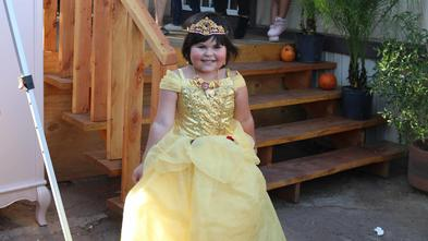 Maria wished to be a princess and Princess Belle sent her a special message in Spanish.