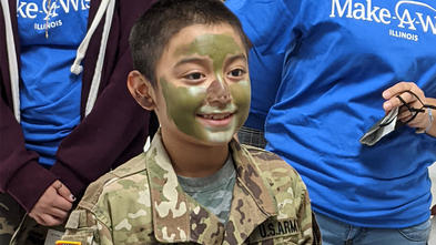 Wish child Miguel in his Army uniform