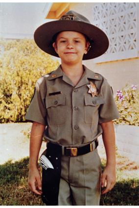 Chris in uniform