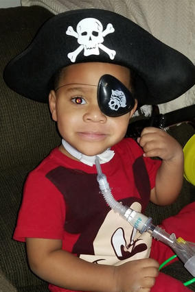 Dontea ready for the pirate's life