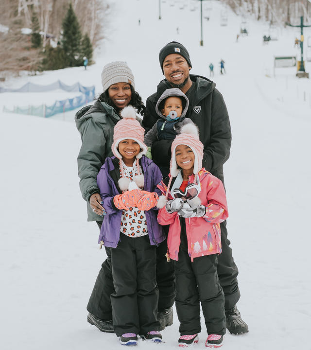 Iris and family in the snow