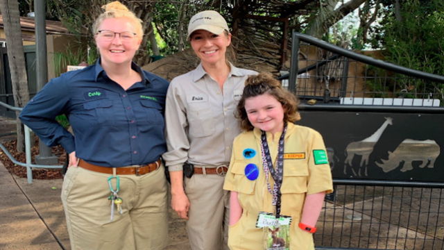 Wish kid Paxton & Zookeepers